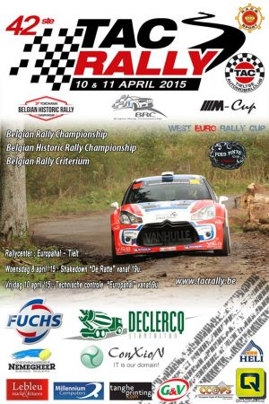 TAC Rally Tielt 2015